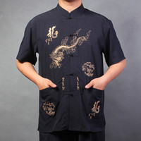 Men Short other Wholesale--New summer short-sleeved shirt Men silk costume middle-aged Chinese lobster pieces atop garlic greens Free shipping