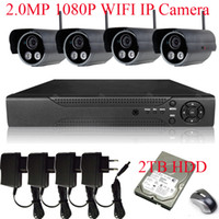 Wholesale 8CH H NVR MP Sony Sensor P Outdoor WIFI Network IP Wireless Camera System With TB HDD