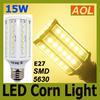 High Quality 15W E27 60 LED 5630 SMD 1800LM LED Corn Bulb White Warm White E14 B22 110V 220V LED Energy Saving Lamp