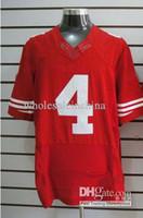 Men Short Cotton 2012 Elite American Football Jerseys # 4 Red Jerseys Mix Order Rugby jersey