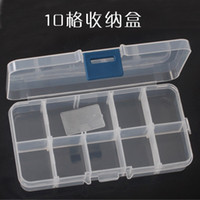 Wholesale 9010 transparent grid makeup false eyelashes finishing box jewelry box kit format removable storage box