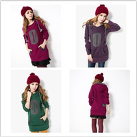 Wholesale 2013 new fashion ladies dresses plus sizes red purple green loose velvet warm with cap Hedging casual dresses S XL Bust cm xb930 DHL