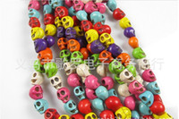 Wholesale Mix Color mm Skull Beads Charms Loose Beads Fit Bracelets Necklace multicolor WY109