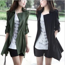 Wholesale trench coat new autumn paragraph big yards women s casual