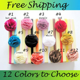 Baby Headbands Girl Chiffon Flower hairbands Hair Accessories Hair Ornaments Kids Beautiful chiffon Headbands 20pcs