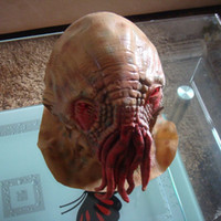Wholesale Octopus Mask Doctor Who Movie Theme Creepy Latex Head Mask Halloween Mask Carnival Party Cosplay Mask Party Mask Latex Rubber