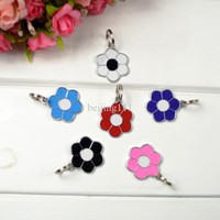 Wholesale New Pet Dog Tag Cat Tag Many Designs Flower design Random Color sent