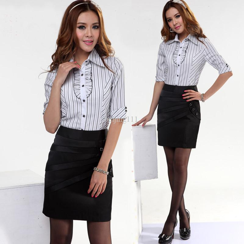 2017 2013 Summer New Fashion Formal Women's Shirt Blouse Ladies Ol ...