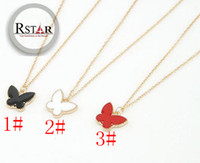 Wholesale Korean Style Gold Alloy Chain with Butterfly Pendant Necklace Beautiful Clothes Sweater Necklace Women s Jewelry Y YL006