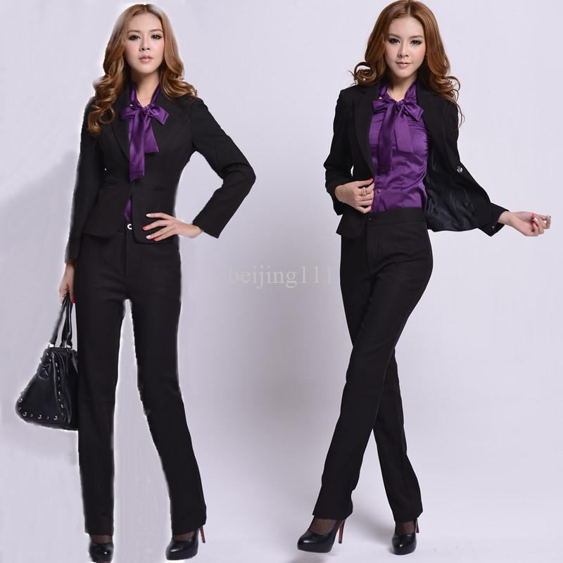 2017 2013 spring work wear female women pant suit slim for