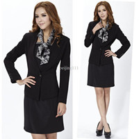 Cheap 2013 spring new fashion women dress suits for ladies ol career sets long sleeve slim business sets black free shipping