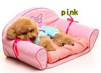 Wholesale Aristocratic pet sofa bed with Mat Japan Doug nest pad Fashion doghouse Cat litter Teddy VIP Kennels color