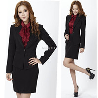Women Dress Suit Corduroy 2013 women skirt suits ladies blazer set fashion for ol formal slim female business black long sleeve winter