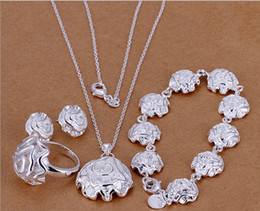 Wholesale - Rose's best-selling 925 silver charm jewelry combination of Valentine's Day gift set free shipping