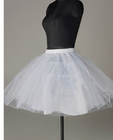 Wholesale lovely dancedress tutu skirt cocktail Bridal Children Short Petticoat White Wedding Prom Dress Crinoline