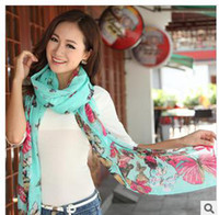 Wholesale Ms han edition new winter rural BaLiSha butterfly scarf cm silk scarves