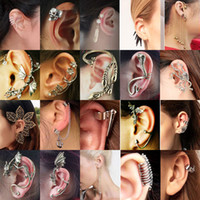 Wholesale Gothic Rock Punk Temtation Metallic Dragon EAR Cuff Wrap Clip Earrings pair U pick the style