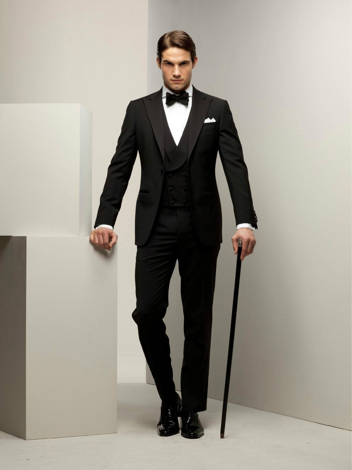 Mens Suit Black Suits Groom Tuxedo for Wedding Formal Wear Dress ...