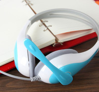 Wholesale YJ over ear headphone DT headphone use for computer via free DHL light blue