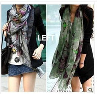 Cheap 160 * 50 cm Chinese flowering crab-apple cotton and linen scarves, scarves, scarves, Chinese flowering knitting scarf, shawl. 180 * 78 cm