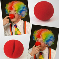 Wholesale Brand New Red Sponge Ball Funny toy Clown Noses Props for Circus Halloween Masquerade Party Costume