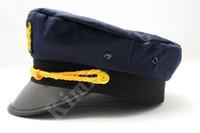 Wholesale Military Hat Cap Captain Hats Hat Sailor Hat Hats NEW Dark Blue