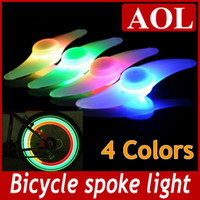 Wheel Lights LED 100-300 LM Hot Bike Bicycle LED Lights Motorcycle Electric car Wheels Spokes Lamp Silicone 4 colors flash alarm light cycle accessories Free Shipping