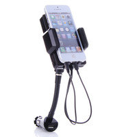 Wholesale Car FM Radio Transmitter Charger Holder Handsfree Kit For iPhone5 Touch5