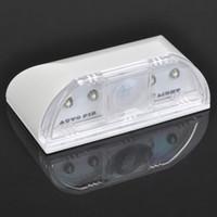 White auto temperature sensor - Auto PIR Door Keyhole Led light IR Motion Sensor Heat Temperature Detector LED Light Lamp Pyroelectric colors
