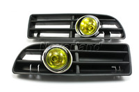 Wholesale Neverland VW JETTA BORA MK4 GLI GLS GLX FRONT BUMPER AMBER FOG LIGHT GRILLE KIT