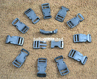 Wholesale quot mm Plastic Black Curved Buckle for Paracord Bracelet Side Release Bag amp Case Accessory