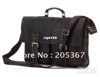 Wholesale Rare Genuine Crazy horse Leather Men s Briefcase Laptop Handbag Messenger Shoulder Bag R
