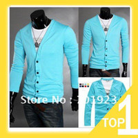 Wholesale Holiday Sale NEW Cotton Men s Cardigan Candy Color Sweater Colors M L XL XXL and retail Y2468
