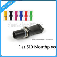 Wholesale Flat Head Drip Tip Tips Mouthpiece for eGo CE4 CE4 CE4S CE5S T2 CE5 CE5 CE6 CE6 Clearomizer Atomizer Plastic E Cigarette Mouthpieces