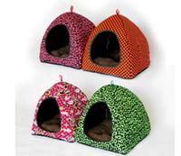 Wholesale SIZE S M L New Winter Classic Warm Pet Multicolor Mongolian Yurt Tent Cashmere Kennel Nest House Dog Sofa Bed Pet Supplies