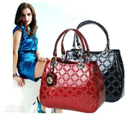 Wholesale Hot selling ladies fashion genuine leather casual handbags patent leather shoulder bags vintage st
