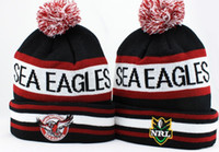 Wholesale Sea Eagles NRL Beanies Black Crimson Snapbacks Hip Hop Caps Street Hats Team Caps Winter Beanies also football baseball basketball etc