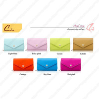 For Apple iPhone Leather  -A2-Multipurpose Envelope Wallet Case Card Holders Coin Purse For Cell Phone iPhone 4 4S 5 5G Christmas Gifts