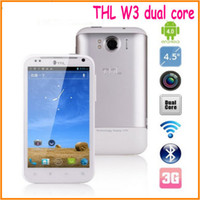 Wholesale THL W3 Dual Core mtk6577 GHz android phone GPS WIFI mobile phone GSM WCDMA phone