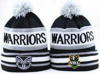 Wholesale WARRIORS NRL Beanies Black Grey Snapbacks Hip Hop Street Hats Team Caps Winter Beanies also football baseball basketball etc