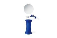 Wholesale New design transparent pedestral bathroom wash basins AZ1011