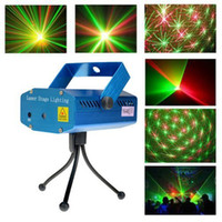 Wholesale Free DHL Starry Sky Red amp Green LED R amp G Mini Laser Stage Lighting Light Lights Projector indoor music DISCO DJ Party Christmas Show Now LIVE