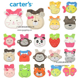 Wholesale 10pcs Popular HOT Infant Baby Bibs Cartoon Animal Cotton Burp Cloth Model Bibs Waterproof Baby Wear B716