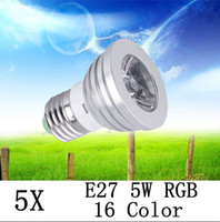 Wholesale Hot Sale X Energy Saving W E27 GU10 MR16 E14 RGB LED Bulb Lamp light Color changing IR Remote