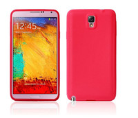 Silicone For Apple iPhone  High Quality Soft Silicone Case Skin Cover for Samsung Galaxy Note 3 III N9000 Free Shipping--