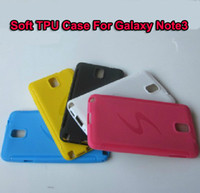 Plastic For Samsung  Soft Gel Cover TPU Case Protective Case with S Logo Case For Galaxy Note3 N9000