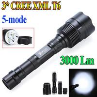 Wholesale 10pcs UltraFire Lumen CREE XM L XML T6 flash light Aluminum Alloy LED Flashlight Torch