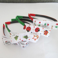 Wholesale Merry Christmas New Fashion Lady Baby Girl Headbands Headwear kid s Hair accessories Mix Color