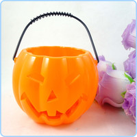 Wholesale Dia Height cm Hollow Face Baby Pumpkins Lantern Halloween Props Party Decoration WS041