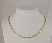 Wholesale GLEAMING K SOLID YELLOW GOLD HEAVY ROPE NECKLACE CHAIN quot AA
